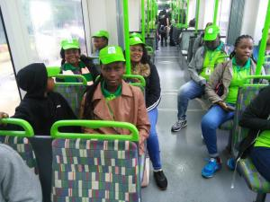 Nomec Students and Staff in TRAMP {Light Rail}